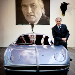 Ferruccio Lamborghini Museo, Fabio Lamborghini and a 350 GTV - Photo by  Andrea Margelli