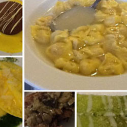 Dishes of the farmhouse La Bisana