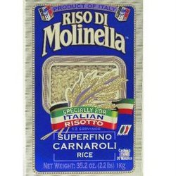 "A pack of rice with the brand ""Riso di Molinella"""