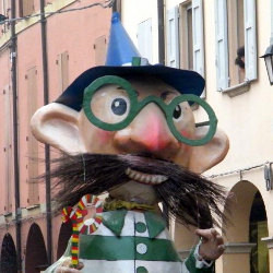 Barbaspein, typical character of Carnival in Pieve di Cento