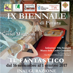 "The Biennal exhibition of painting ""city of Castel Maggiore"" - poster"