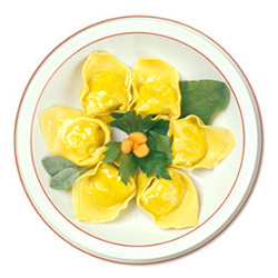 Tortelloni filled with ricotta cheese